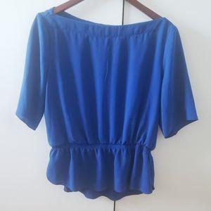 Royal Blue Wilfred Peplum Blouse